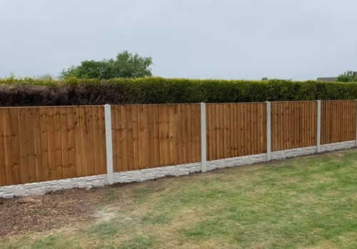 another back garden and a long run of fencing installed