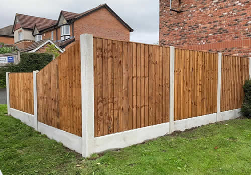 another garden fence fitted